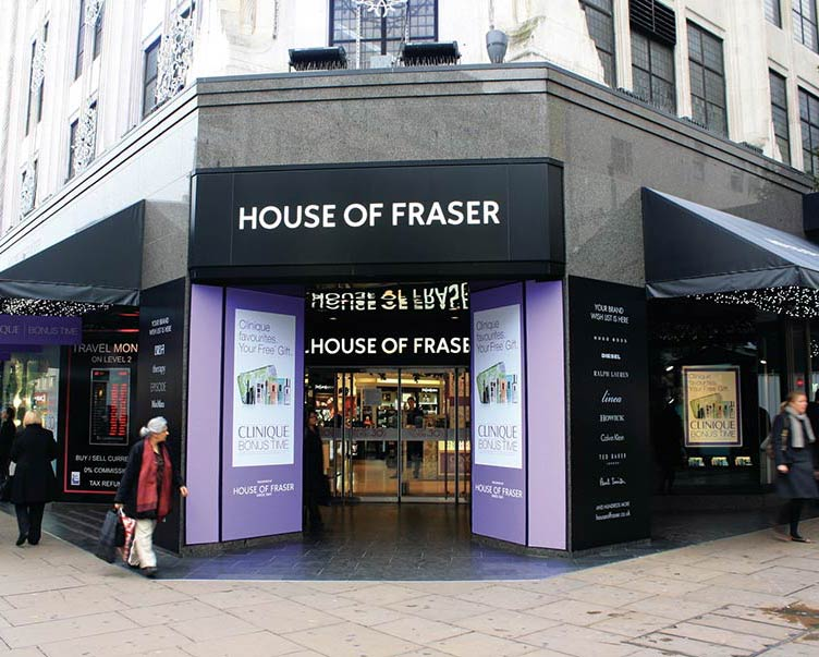 House of fraser oxford street for Housse of fraser
