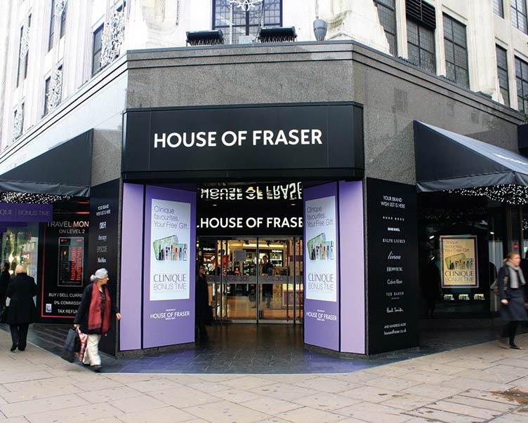 House of fraser oxford street for Housse of frazer