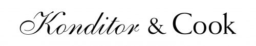 Konditor & Cook logo white and black