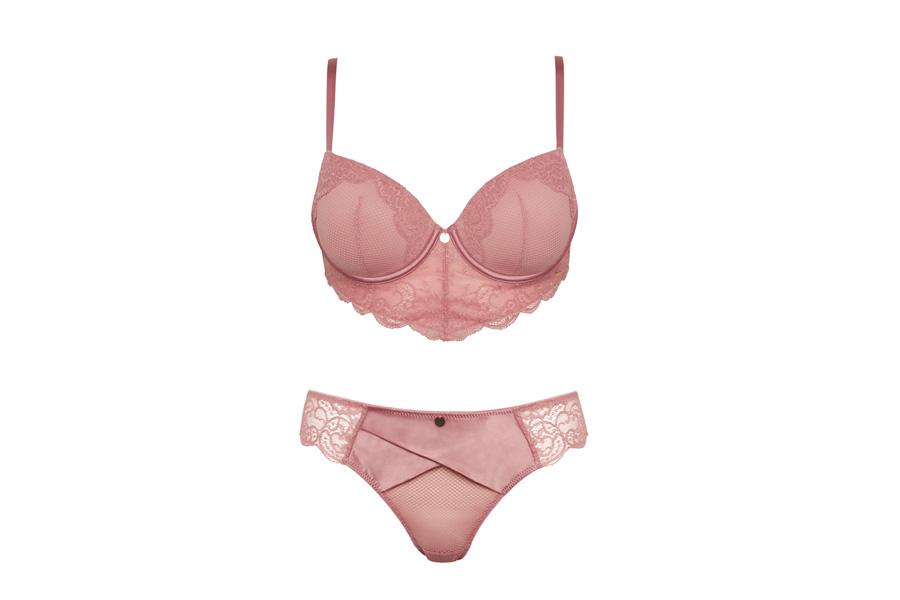 8032ffee2e0888 Pink Lace Longline Bra